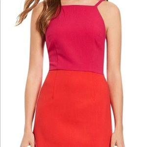 NWT PINK AND RED FRENCH CONNECTION BODYCON DRESS